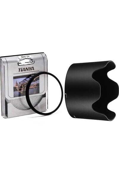 Tianya Nikon 70-300mm F4-5.6 G Vr Lens için 67mm Slim Uv Filtre + Hb-36 Bayonet Parasoley
