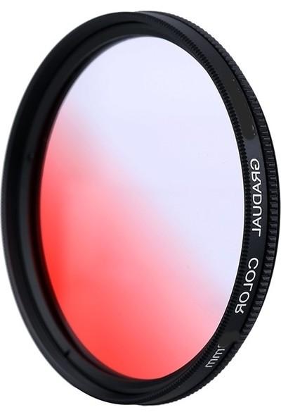 Dhd Canon 18-135mm Lens için 67mm Kademeli Degrade Red Kırmızı Efekt Filtre