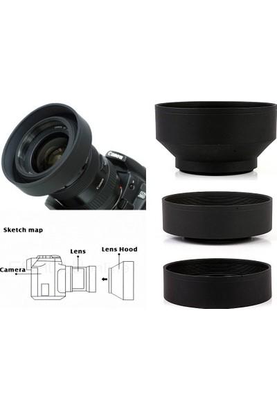 Tianya Nikon 18-105mm Lens için 67mm 3 Kademeli Ayarlanabilir Kauçuk Parasoley