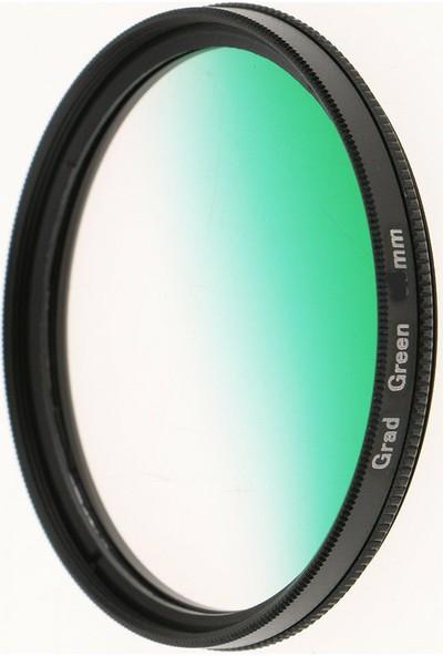 Dhd Canon 18-55mm Lens için 58mm Kademeli Degrade Green Yeşil Efekt Filtre
