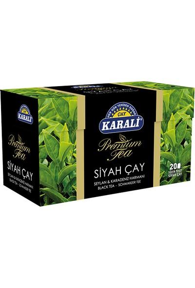 Karali Premium Bardak Poşet Siyah Çay 20'li