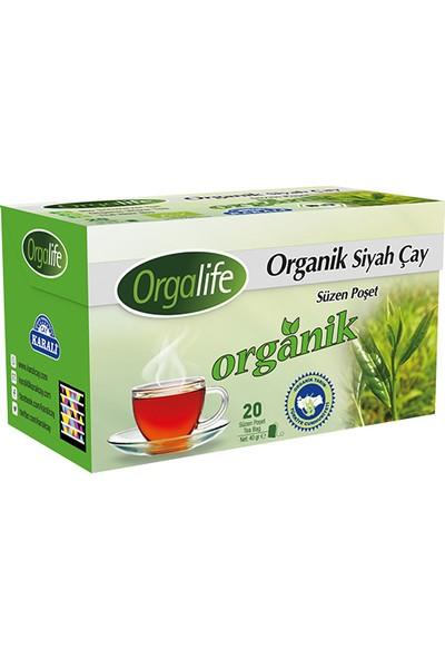 Orgalife Organik Bardak Poşet Siyah Çay 20'li