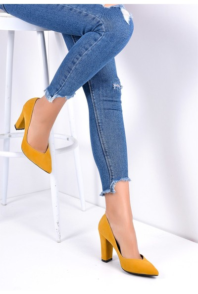 Pembe Potin Hardal Kadın Ayakkabı