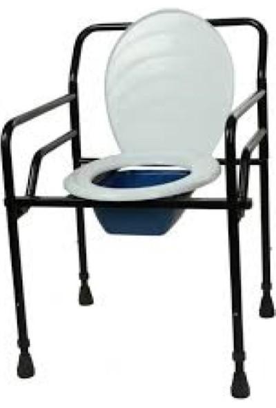 Medikalbim Seyyar Katlanabilir Hasta Yaşlı Tuvalet Sandalyesi Klozetli Wc Li Sandalye Oturak