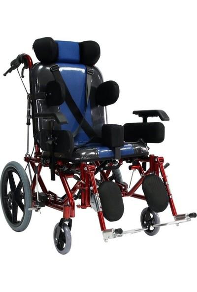 Poylin P958Y Yetişkin Spastik Tekerlekli Sandalyesi Özellikli