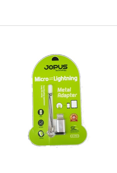 Jopus Micro Usb Den Apple Lightning Çevirici Döüştürücü Adaptör