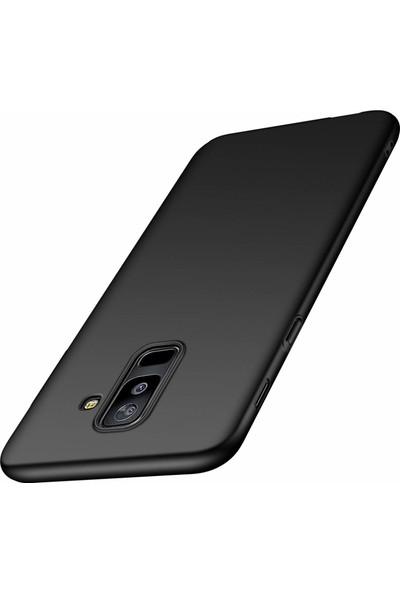 Jopus Samsung Galaxy J8 Mat Premium Silikon Kılıf + Cam Ekran Koruyucu