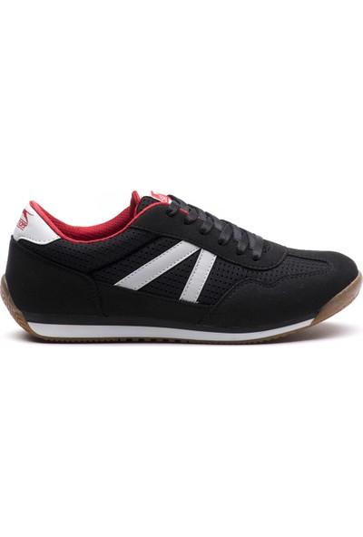Slazenger Matıc Günlük Giyim Kadın Ayakkabı Siyah / Kırmızı