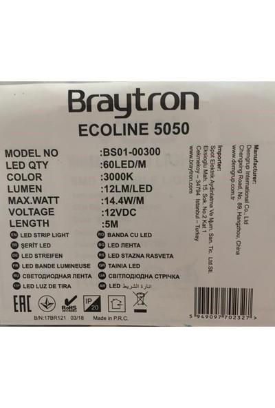 Braytron Ecoline 5050 Şerit Led Gün Işığı 5Mt