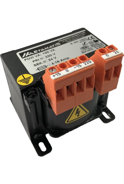 Etamatis 100 Va 380/220 V Ac Transformatör