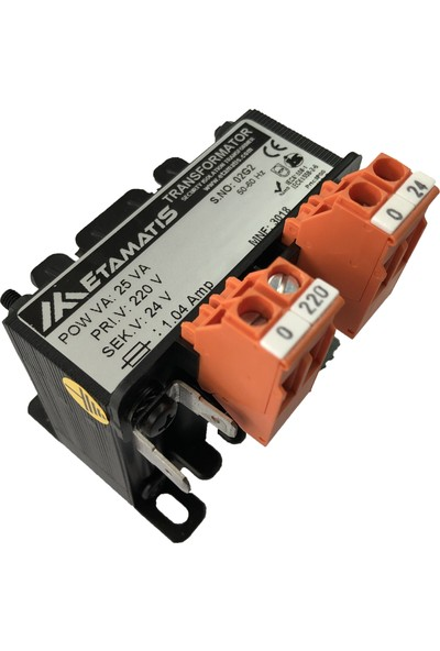 Etamatis 25 Va 220/24 V Ac Transformatör