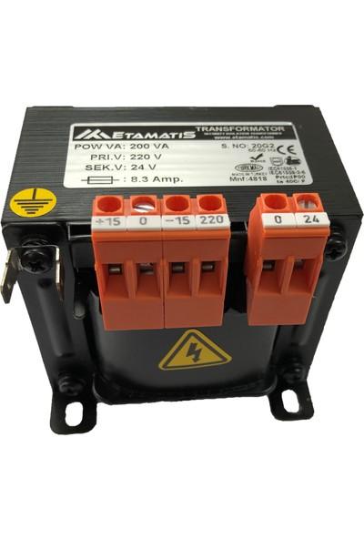 Etamatis 200 Va 220/24 V Ac Transformatör