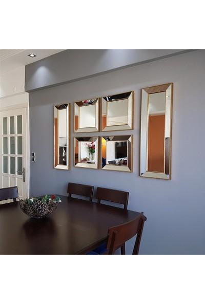 NEOstill -6'lı Dekoratif Duvar Salon Ofis Çerçeveli Ayna A403f