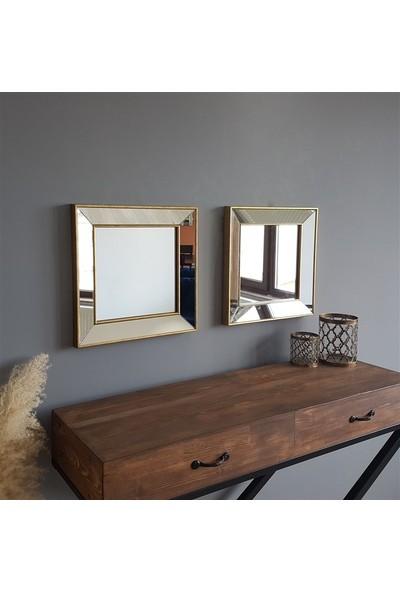 NEOstill -2'li Dekoratif Duvar Salon Ofis Çerçeveli Ayna A403c