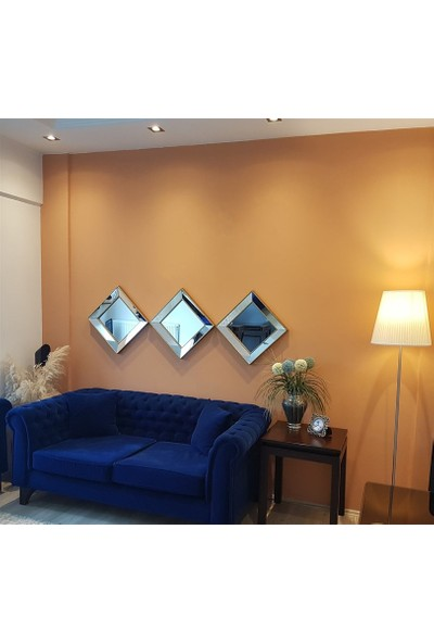NEOstill -3'lü Dekoratif Duvar Salon Ofis Çerçeveli Ayna A403d