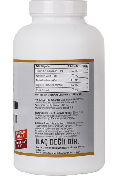 Ncs Glucosamine Chondroitin Msm Hyaluronic Acid 120 Tablet