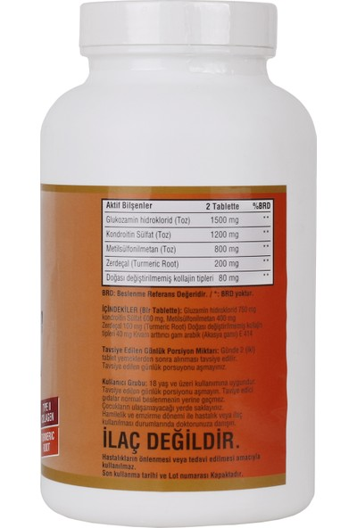 Ncs Glucosamine Chondroitin Msm Type Iı Collagen Turmeric 300 Tablet