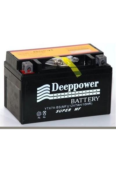 Deep Power Ytx7A-Bs 12V 7Ah 10Hr Yatık Motosiklet Akü
