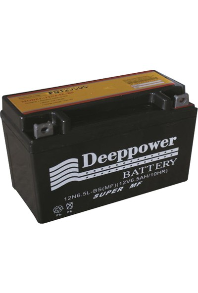 Deep Power 12 N 6.5 L Bs 12 V 6.5 Ah /10 Hr Cg Aküsü