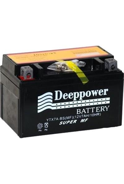 Deep Power Ytx7A-Bs 12 V 7 Ah/10 Hr Yatık Motosiklet Akü