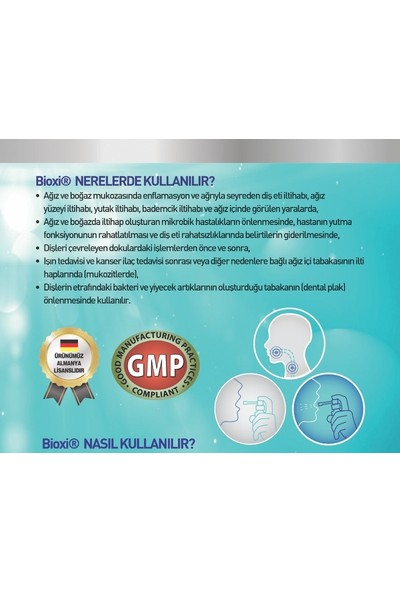 Bioxi® Mouth Care Ağız Bakım Temizleme Spreyi - 150 ml