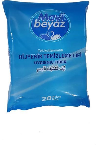 Mavi Beyaz Hijyenik Vücut Temizleme Lifi