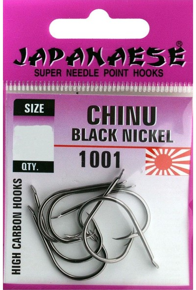 Japanese Chinu Black Nikel Olta İğnesi