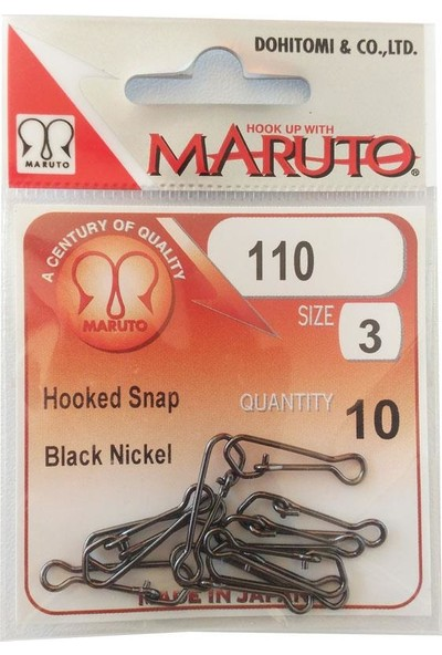Maruto Black Nickel Hooked Snap Klips-No:3