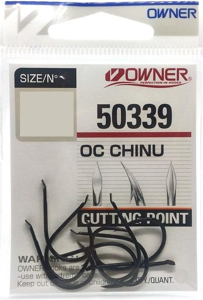 Owner 50339 Siyah Çarpraz Dövme Olta İğnesi