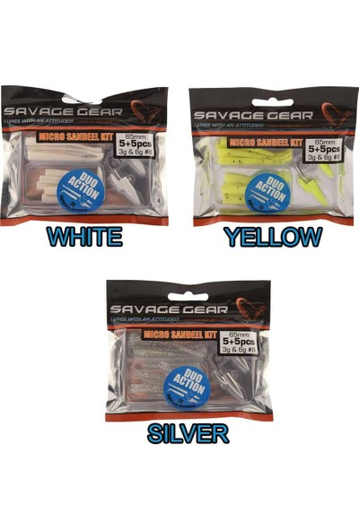Savage Gear Lrf Micro Sandeel Kit 1+1 5+5 Suni Yem
