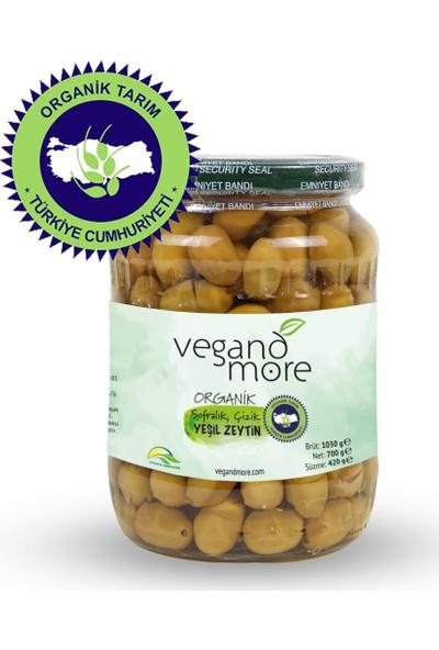 Vegandmore Organik Çizik Yeşil Zeytin 420 gr