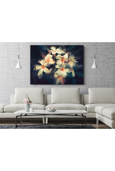 Decobritish Nergis Çiçeği Yağlı Boya Kanvas Tablo