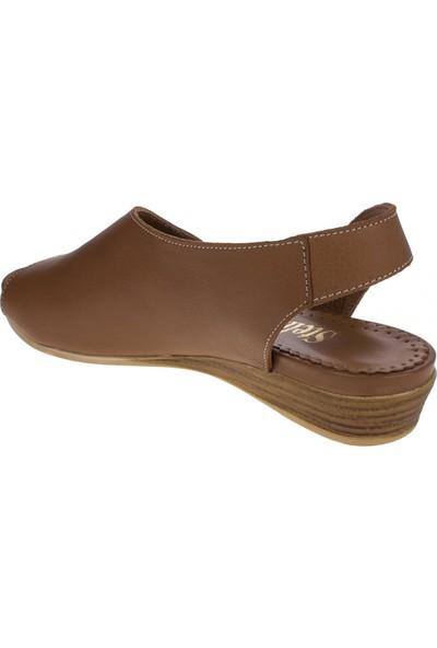 Stella 19526 Tek Bant Taba Kadın Sandalet