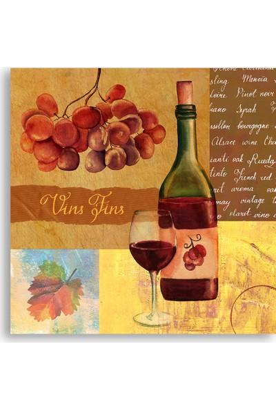 Diji Kanvas Şarap Şişesi Yağlı Boya Tablo Kanvas Tablo