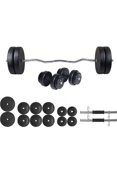 Ecgspor 65kg Z barlı Dambıl Seti Ağırlık Seti Fitness Seti