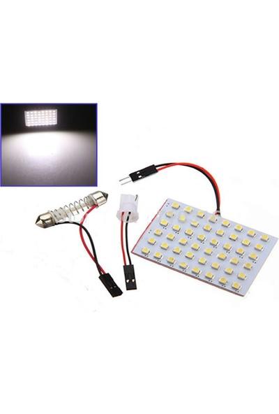 Smd Led Araç Tavan Lambası 48 Beyaz Işık Led Araba Bagaj Lambası