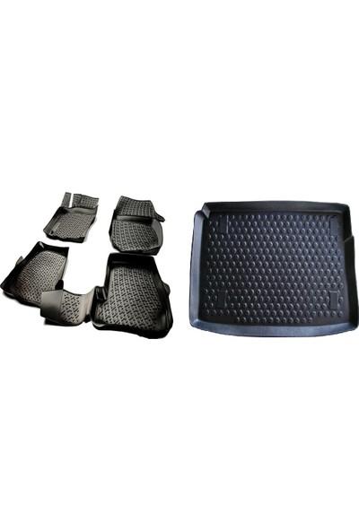 L.locker Honda Civic Sedan 2012 - 2016 3D Havuzlu Paspas + Bagaj Havuzu İkili Set