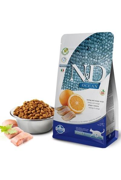 N&D Ocean Ringa Balığı & Portakallı Yetişkin Kedi Maması 1,5 KG