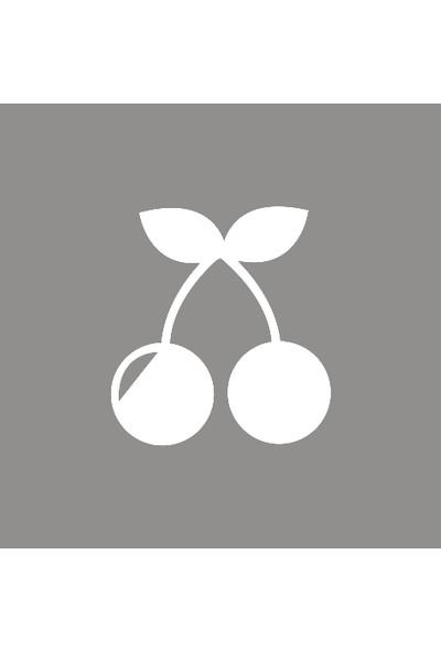 New Jargon Kiraz Sticker Yapıştırma Beyaz