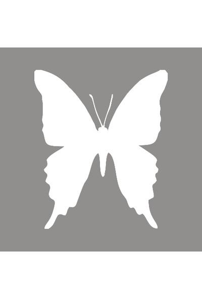 New Jargon Kelebek Butterfly Sticker Yapıştırma Beyaz