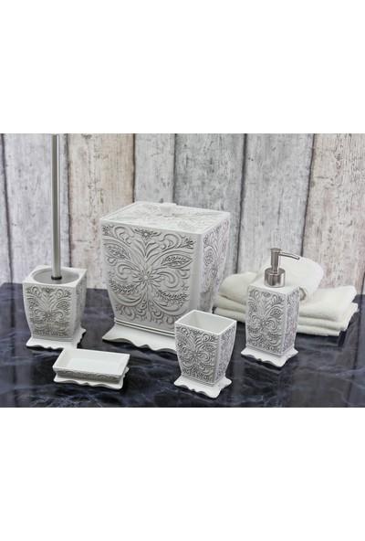 By Selim Labrazel 5 Parça Polyester Banyo Seti - Beyaz