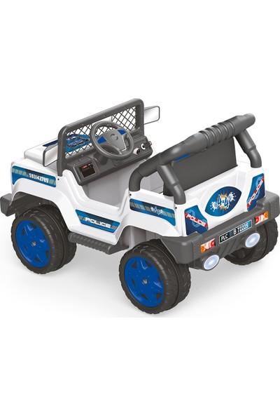 Dolu 8084 Polis Akülü Araba Jeep 12 Volt