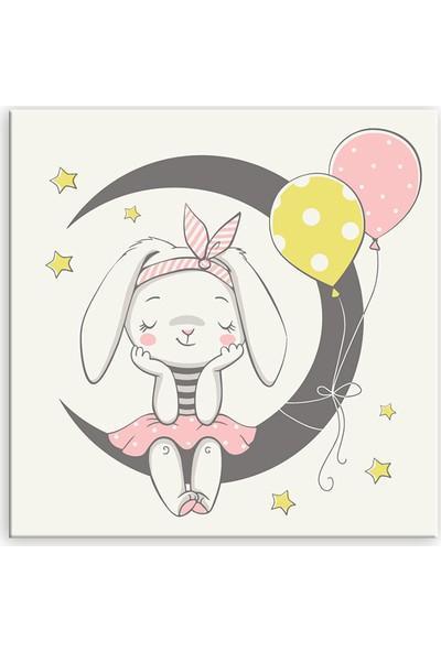 Diji Kanvas Balonlar ve Tavşancık Çocuk Odası Kanvas Tablo
