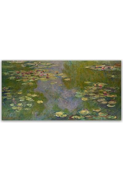 Diji Kanvas Claude Monet Sudaki Nilüferler Yağlı Boya Kanvas Tablo