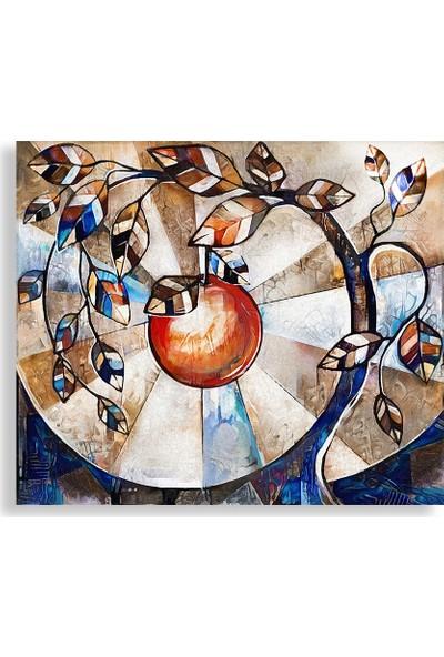 Decobritish Elma Ağacı Dekoratif Kanvas Tablo