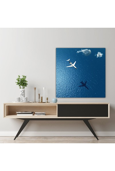 Decobritish Okyanus ve Uçak Kanvas Tablo