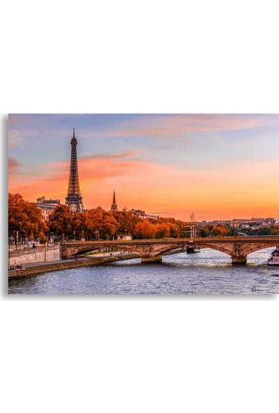Diji Kanvas Paris'te Sonbahar Manzara Kanvas Tablo