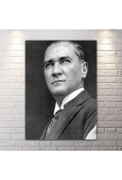 Diji Kanvas Siyah Beyaz Atatürk Kanvas Tablo