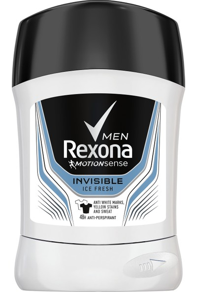 Rexona Invisible Black White Ice Fresh Erkek Stick Deodorant 50ml