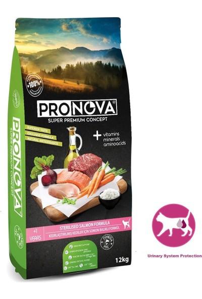 Pronova Sterilised Somon Balıklı Kısırlaştırılmış Düşük Tahıllı Kedi Maması 12 Kg